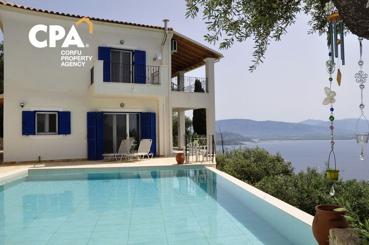 Sea view villa for sale with swimming pool in Kentroma Corfu-CPA 3632 From: www.cpacorfu.com/en/properties/3632