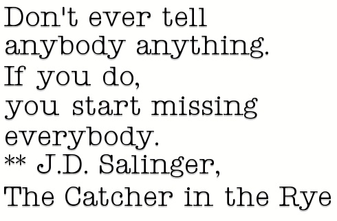 an analysis of the character of the catcher in the rye by jd salinger That book is catcher in the rye or that the cultish-popularity of its character here is the remarkable story of jd salinger and catcher in the rye.
