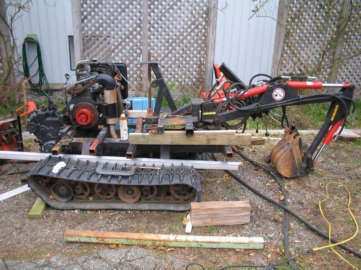114 best Tractores images – Backhoe Plans For Garden Tractor