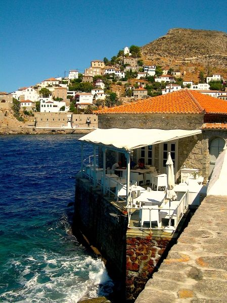 Terrace in Hydra