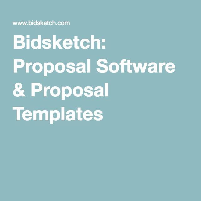 Best 25+ Proposal software ideas on Pinterest Brochure design - proposal templates