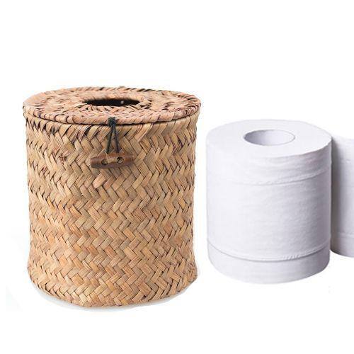 Sea Straw Woven Toilet Paper Roll Cover Amp Tissue Dispenser