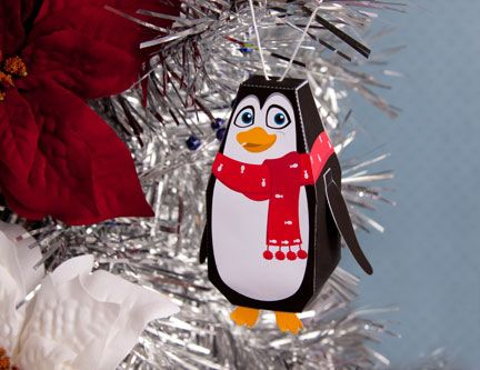 Penguin Ornament - Bring Antarctica inside by making this cute little guy and hanging him on your tree.