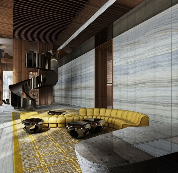 LUXURY INTERIOS|Yabu Pushelberg designs Miami's Brickell House | bocadolobo.com | #luxuryhotels #besthotels