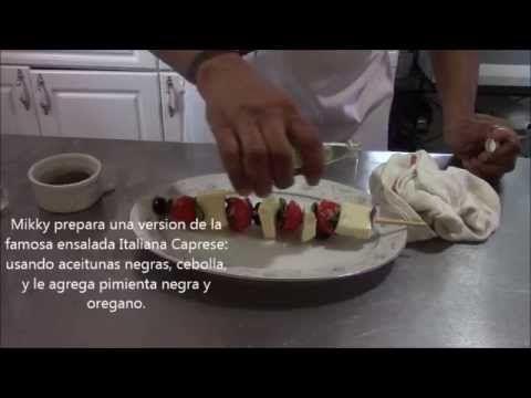 Como preparar ensalada Caprese. Recetas de cocina.