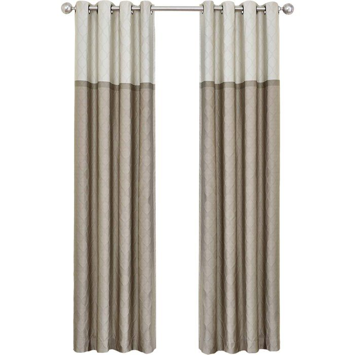 Rothsville Geometric Blackout Grommet 1 Curtains Drapes