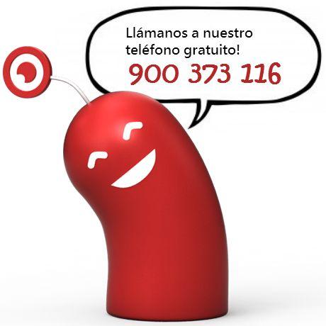 Nuestro teléfono gratuito!