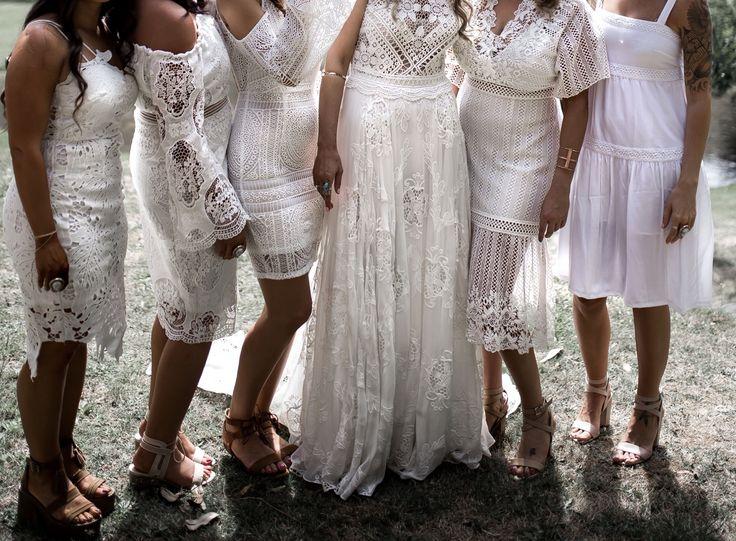 Bride brides Bridal wedding weddings wedding gown wedding dress white bohemian boho