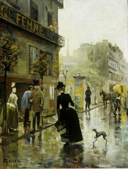 Akseli Gallen-Kallela  (1865–1931): Paris Bulevard, 1885