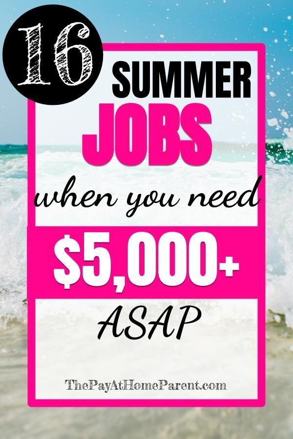 summer jobs that make more money