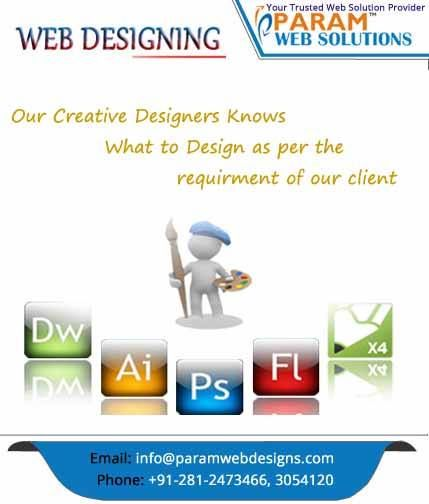 Our Creative Designers Knows What to Design as per the requirement of our client - www.paramwebdesigns.com