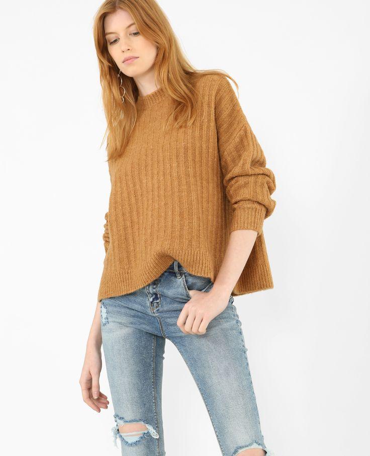 Jersey básico - Un jersey camel ideal para combinar con una falda o un pantalón beis.
