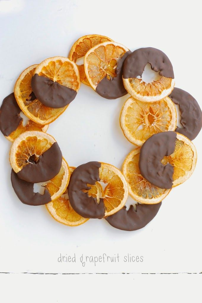 Have extra grapefruit? These Dried Grapefruit Slices (with chocolate) are fantastic for a holiday party or a hostess gift!