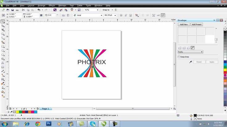 easy logo designing in corel draw