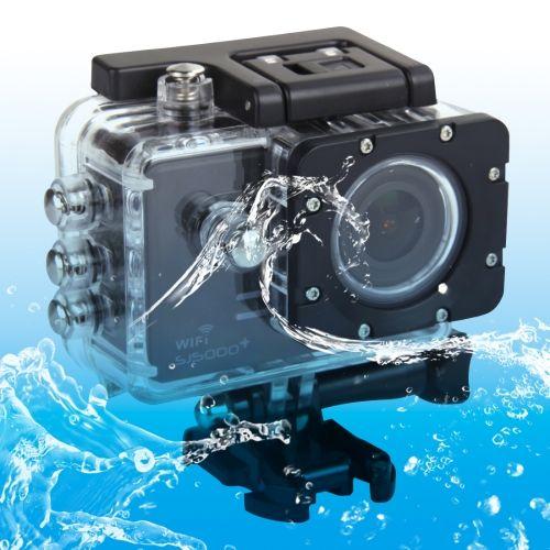 [$139.00] SJCAM SJ5000+ WiFi HD 1080P 1.5 inch LCD Sports Camcorder with Waterproof Case, 170 Degrees Wide Angle Lens, 30m Waterproof(Black)