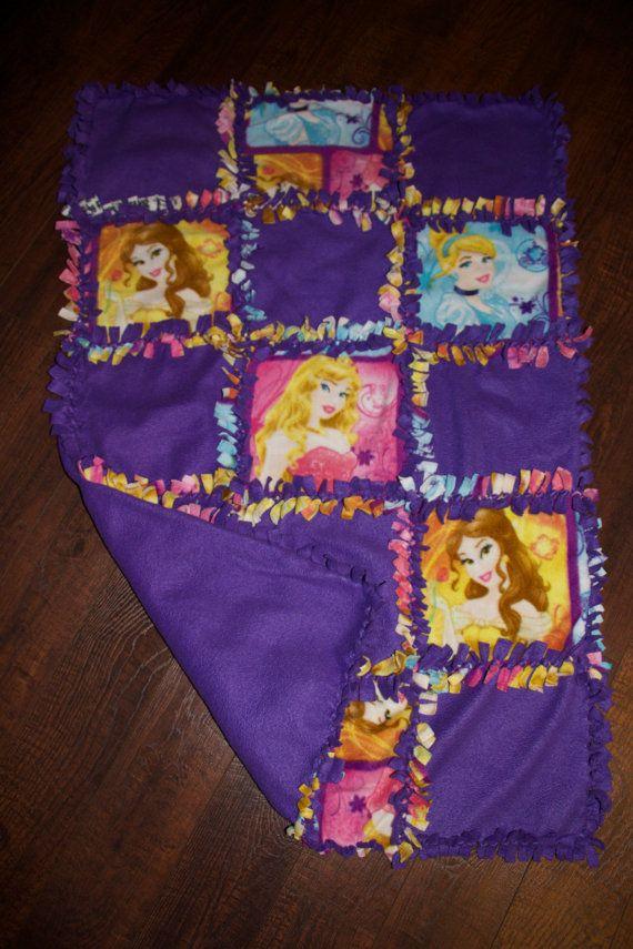 Disney Princess Quilted No Sew Fleece Blanket 27 X 42 Via