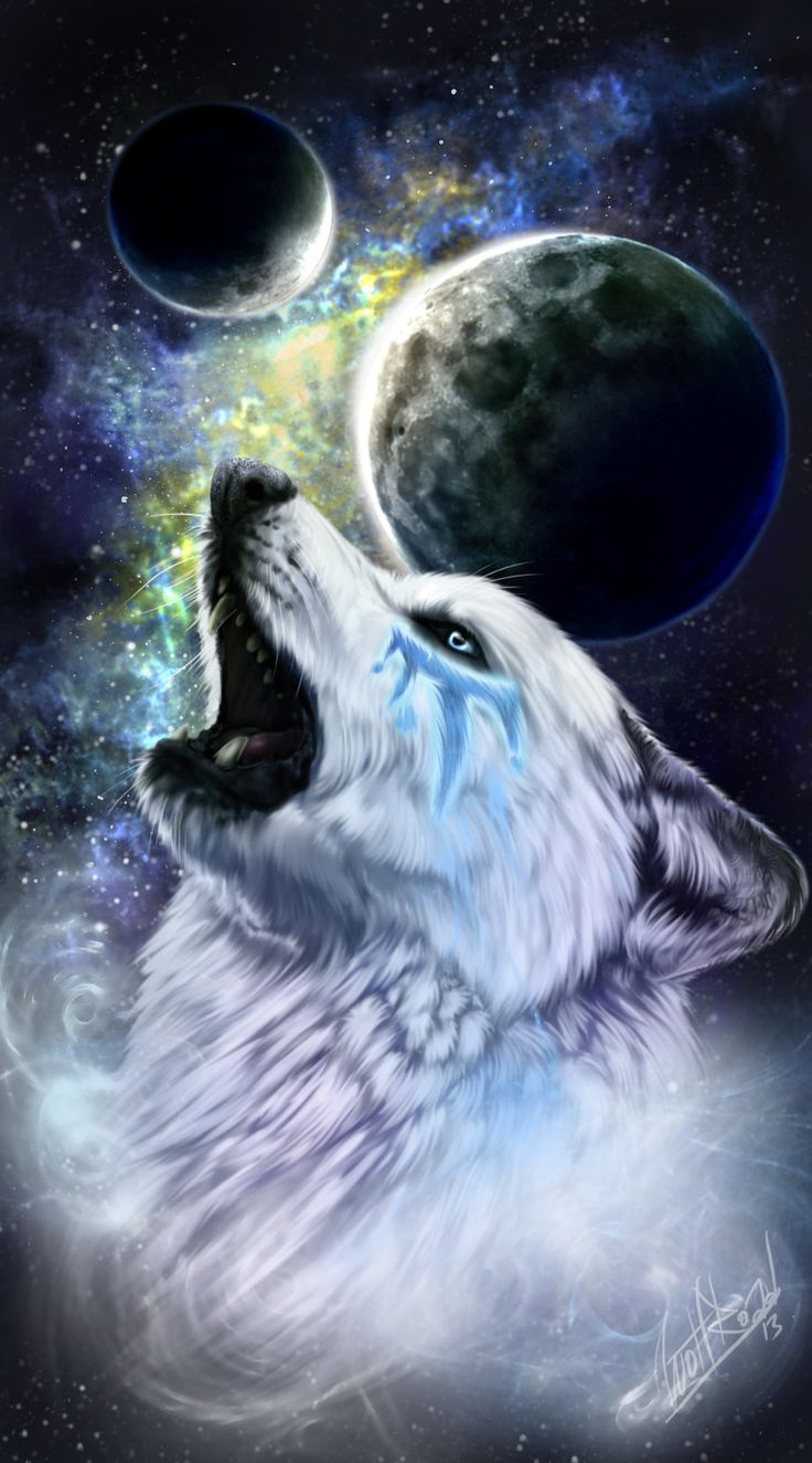 """Wolves:  #Wolf ~ """"Oskha the White Wind,"""" by WolfRoad, at deviantART."""