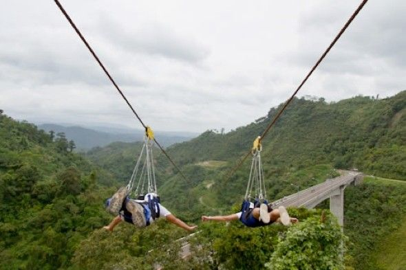 World's fastest and longest zipline - Sun City, South Africa