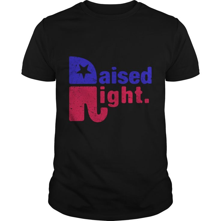 Raised Right - Republican Elephant Distressed Design T-Shirt