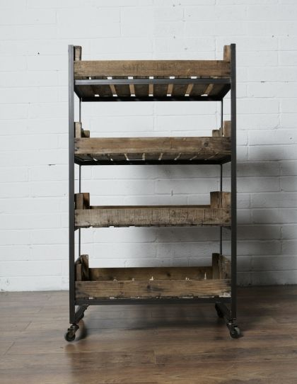 Rolling Crate Shelving Unit / Garden