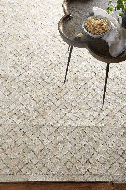 Patchwork Leather Rug - anthropologie.com
