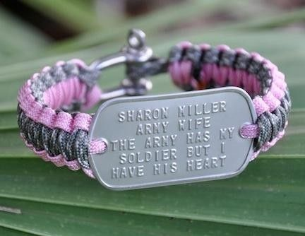 Light Duty Dog Tag Survival Bracelet™ - Survival Bracelets.  Made from military paracord!  Different styles to choose from!  On this link, there is even a dog tag neck cord, key chain, and luggage/gear tag!!!