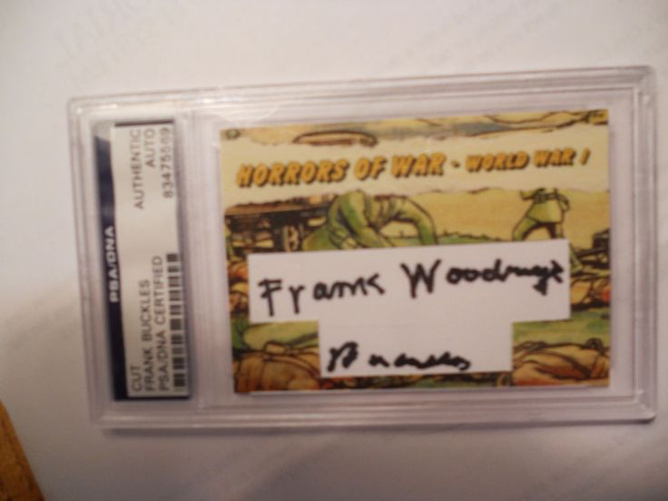 FRANK BUCKLES CUSTOM CARD-LAST U.S. WW1 VET SIGNED/AUTOGRAPHED -PSA/DNA-1/1
