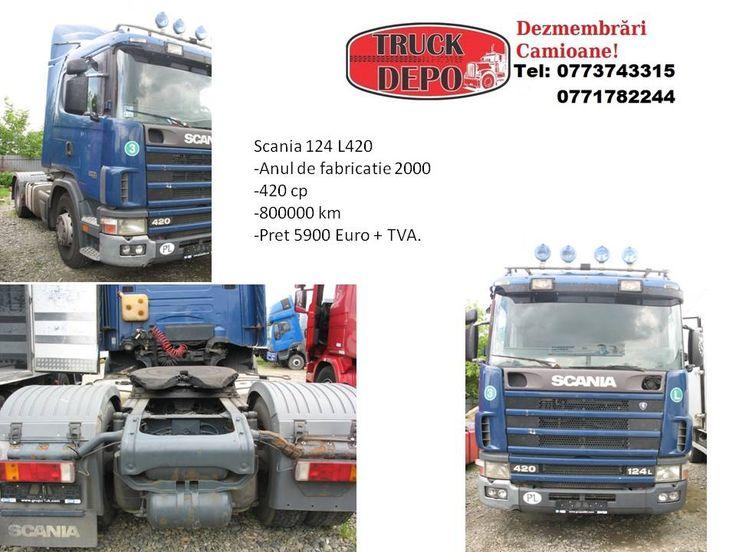 Vand Scania 124 L 420 .Pentru mai multe detalii, contactati-ne: 0773 743 315, 0771 782 244, 0771 783 686, 0365 424 682, office@truckdepo.ro .