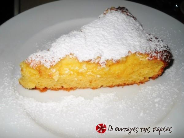 Αφράτο κέικ  με άρωμα λεμόνι και τυρί κρέμα #sintagespareas