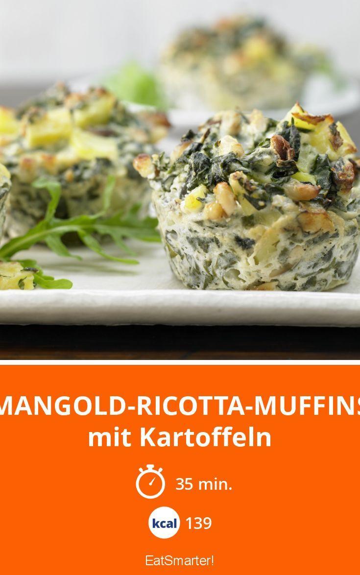 Mangold-Ricotta-Muffins - mit Kartoffeln - smarter - Kalorien: 139 Kcal - Zeit: 35 Min. | eatsmarter.de