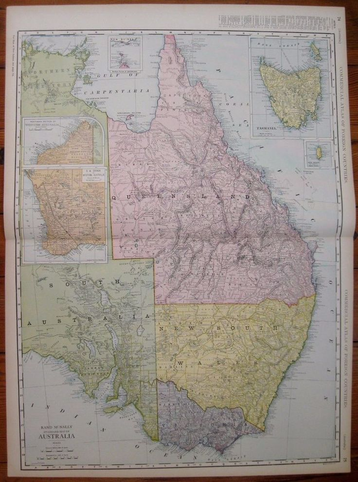 Puerto Rico Map World%0A      Antique AUSTRALIA Map RARE Poster Print SIZE Original Map Gallery Wall