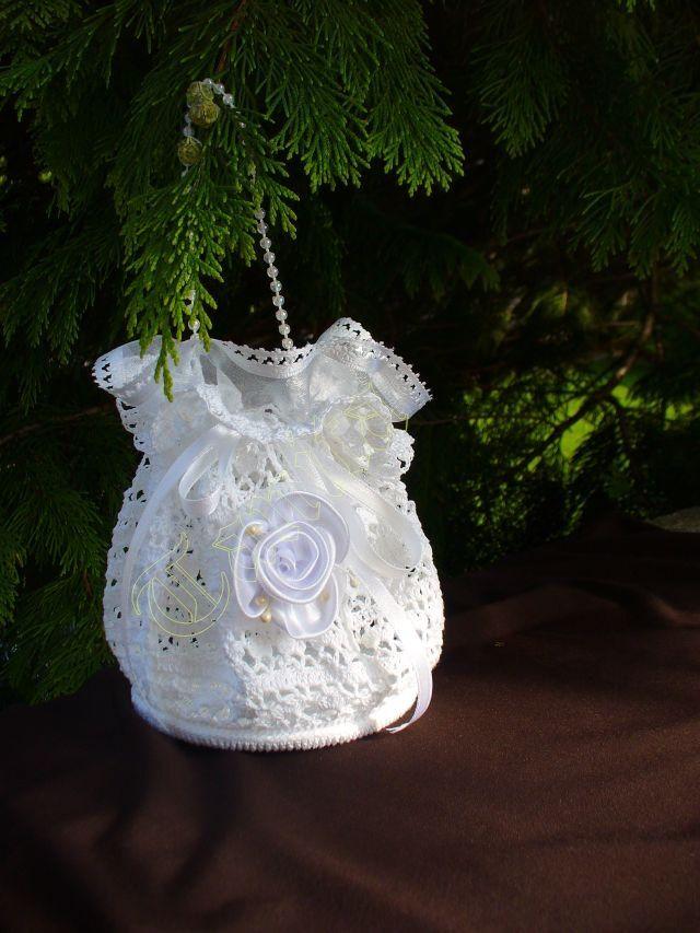 Free Crochet Wedding Bag Pattern : Wedding Purse Crochet Pattern