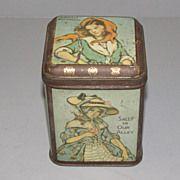 Vintage Unmarked British Tea Tin, Irish Folk Song Ladies