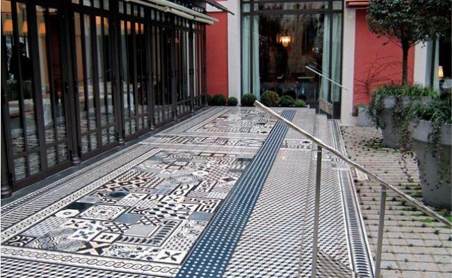Le carreau de ciment retrouve ses lettres de noblesse couleur mur id e pour mon entr e - Carrelage ciment provencal ...