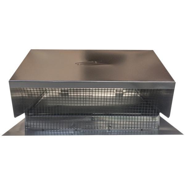 "Builder's Best(R) 012634 Black Metal Roof Vent Cap (6""-8"" (3 1-4"" x 10"") Universal Flush)"