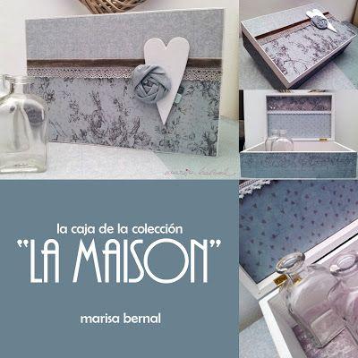 """naltin (el blog de marisa bernal): talleres 2013 - Creativa Barcelona - la caja de la colección de papeles """"la maison"""""""