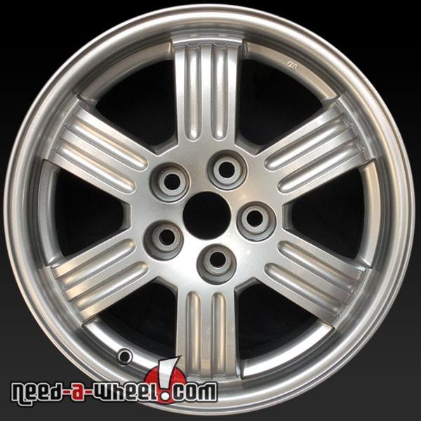 "2000-2002 Mitsubishi Eclipse oem wheels for sale. 17"" Silver stock rims 65772 https://www.need-a-wheel.com/rim-shop/17-mitsubishi-eclipse-oem-wheels-rims-silver-65772/, , #oemwheels, #factorywheels"