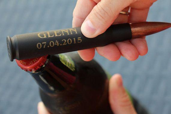 Engraved 50 Cal Bullet Bottle Opener, Groomsmen Gift, 50 Cal Bullet, Beer Bottle Opener, Gift for Groomsman, Personalized Bottle Opener
