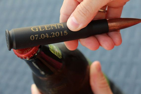 5 Engraved 50 Cal Bullet Bottle Opener, Groomsmen Gift, Gift for Men, Beer Bottle Opener, Gift for Groomsman, Personalized Bottle Opener, 50
