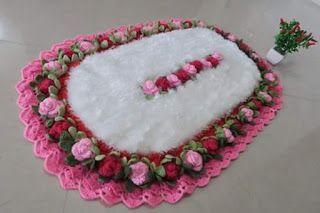 Tina's handicraft : crochet rugs with flowers