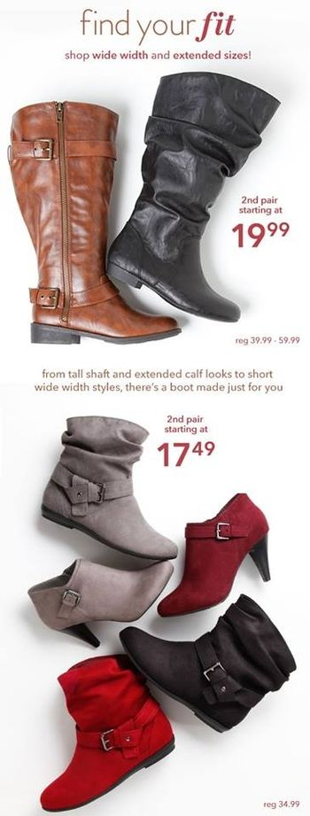 Fall for boots that fit at Payless Shoe Source at the Colonial Park Mall, Harrisburg, PA!