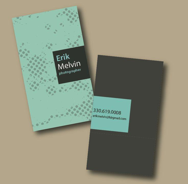 Mint Gray Modern Business Card Vertical Layout
