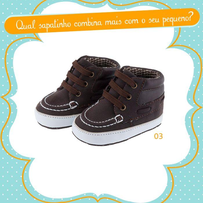 Qual sapatinho combina mais com o seu pequeno? Difícil será escolher apenas um! ;)