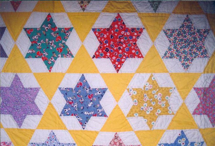 6 pointed star quilt Beautiful Quilts Pinterest