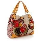 Sacha Tan large expandable patchwork tote bag Debenhams
