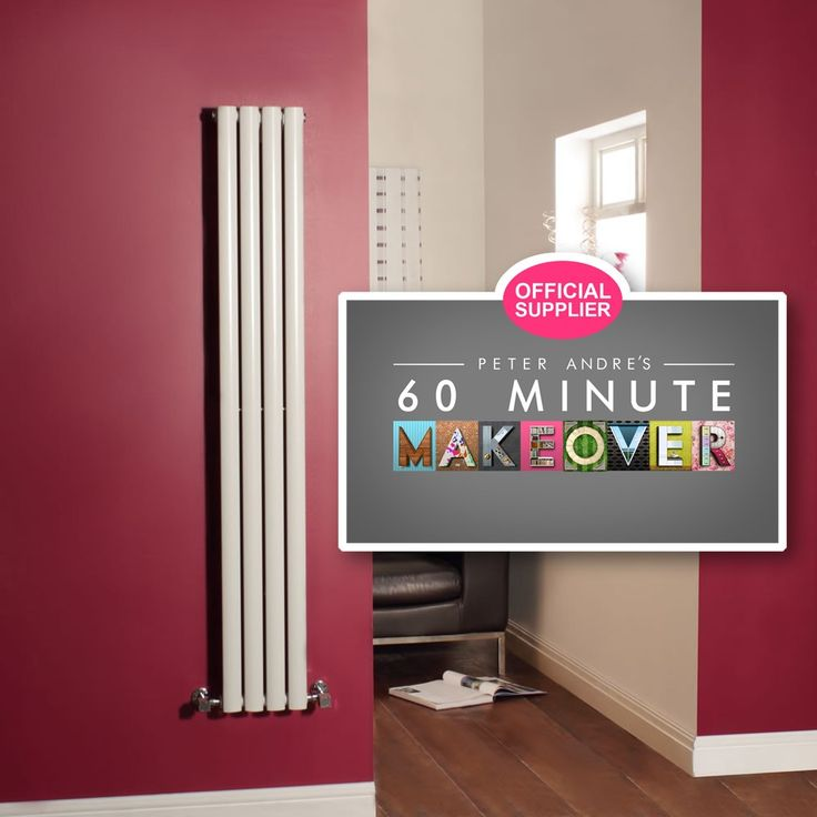 Milano Aruba - White Narrow Vertical Designer Radiator 1600mm x 236mm - All Designer Radiators - Designer Radiators - Radiators