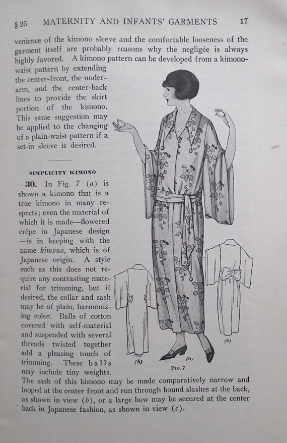 Maternity and Infants' Garments  Woman's Institute of Domestic Arts & Sciences - vintage 20s dressmaking book - needlework - sewing patterns