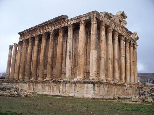 Lebanon - Baalbek ruins dates back about 9,000 years, with almost continual settlement of the tell under the Temple of Jupiter, which was probably a temple since the pre-Hellenistic era .