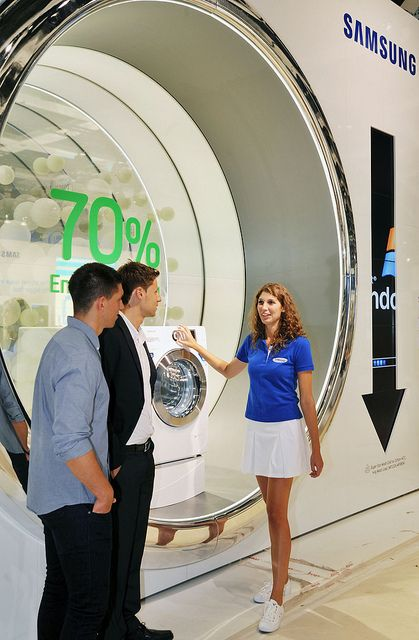 Samsung Electronics unveiled its new home appliances with the industry and consumers at IFA 2011.    At the show, Samsung's innovative products, combined with the latest smart technology, were laid out in the context of living a Smarter Life that ultim nice image to share