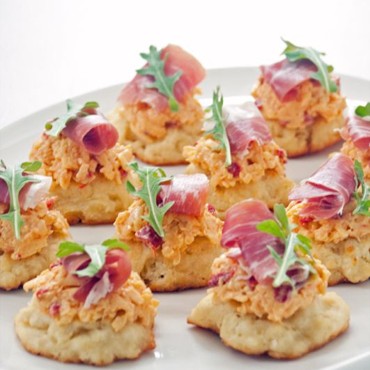 Check Out Pimento Cheese Prosciutto And Drop Biscuit Bites Its So Easy To Make